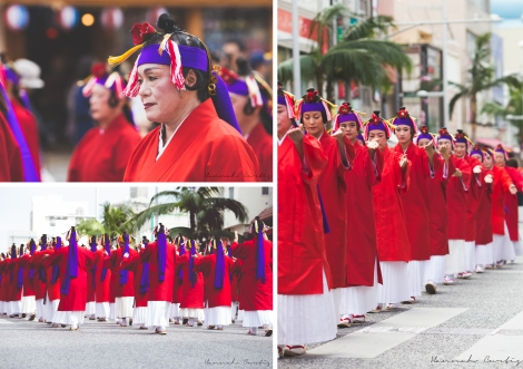 Dancers in Red & White Robes