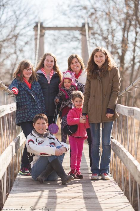on the swinging bridge, Pioneers Park, Lincoln, NE