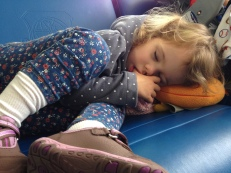 Eden crashed out waiting to board the plane