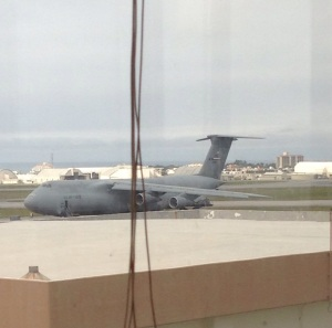 The plane we flew on from Okinawa to America