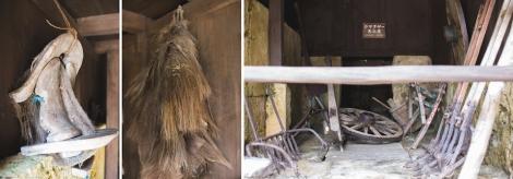 inside the Kachiku (barn)