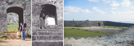 Entering Zakimi Castle Ruins