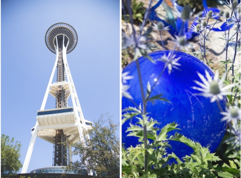 Space Needle, slight reflection of the space needle at Chihuly Garden and Glass