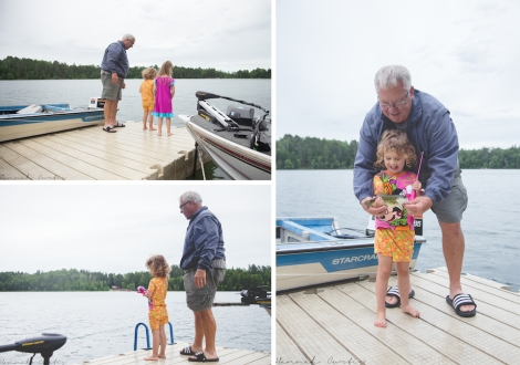 Eden's first catch EVER...thanks Grandpa!