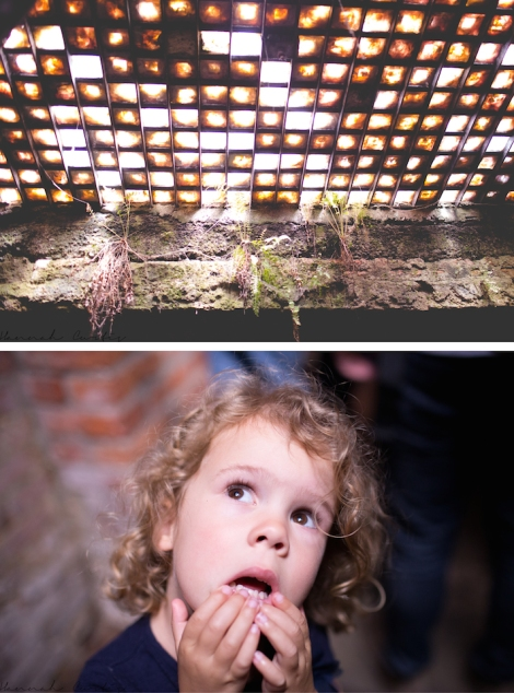 Eden was a bit concerned that we could see people walking on the street above us through the skylight