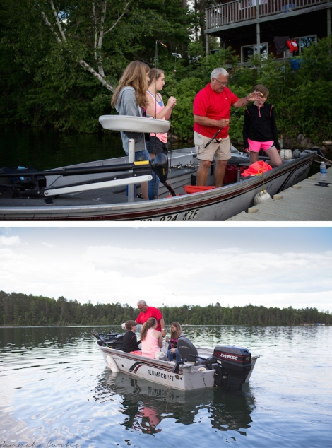 Grandpa taking his oldest Granddaughters fishing