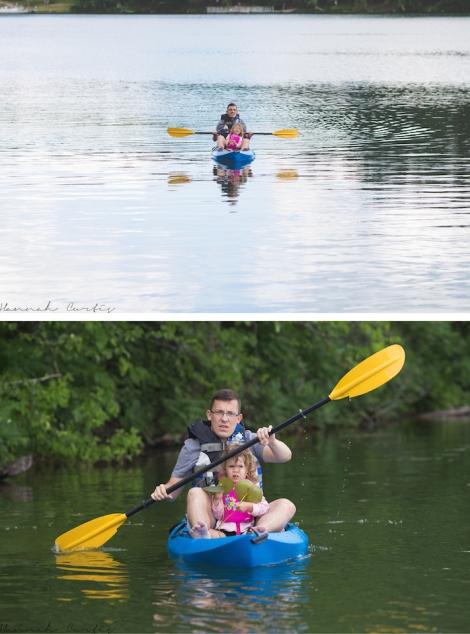Matt & Eden kayaking