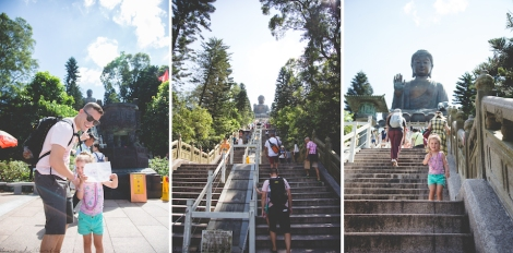 before, the start and just about at the top of the 268 stairs