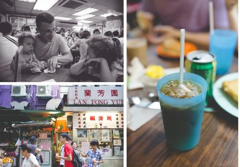 at Lan Fong Yuen, cup of cold yin yeung