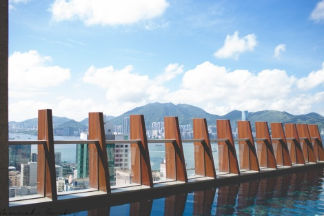 pool on the 35th floor provided great views of Hong Kong