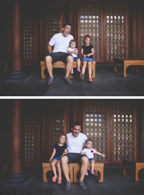 Matt & the girls at Nan Lian Gardens