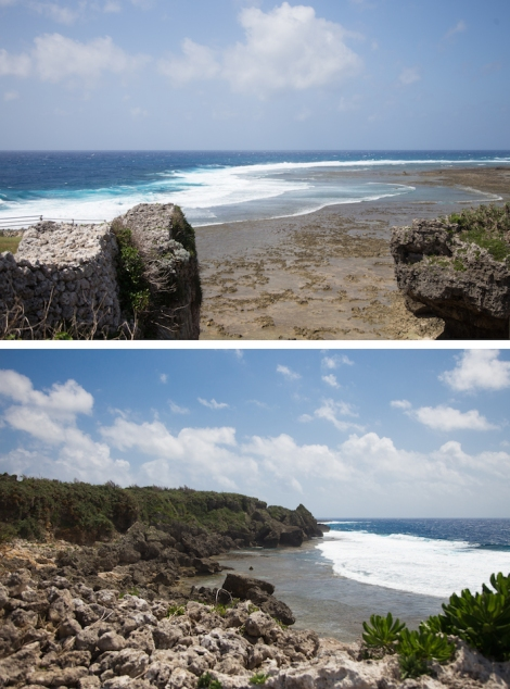 views of the Pacific from Gushikawa Ruins
