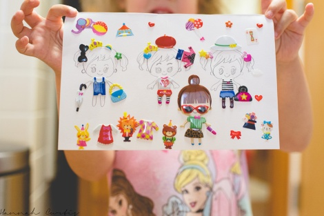 Eden's sticker dress-up creation