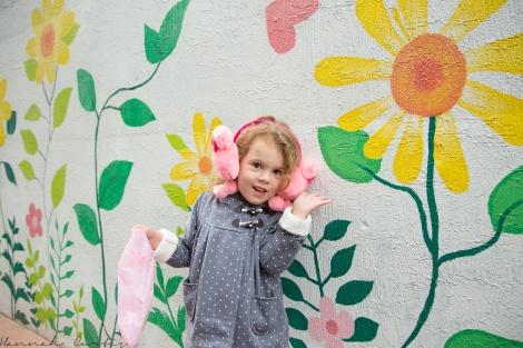 I asked Eden to do her best flower impression! (on our way to Bukchon Hanok Village)