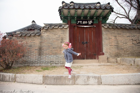 Jumping at Changdeokgung Palace