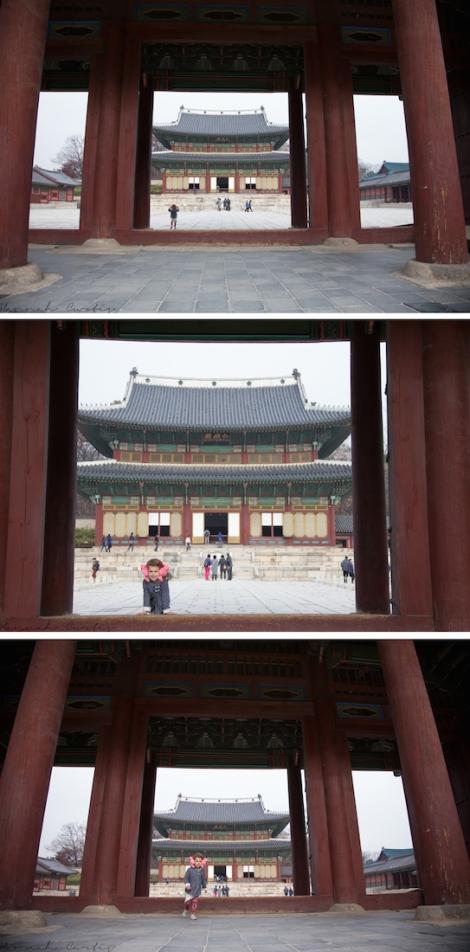 my little explorer at Changdeokgung Palace
