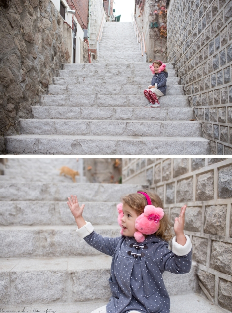 getting lost trying to find Bukchon Village. Eden explaining how old things are to me!