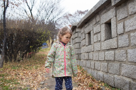 Eden at Naksan Park with the city wall