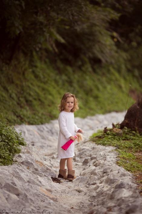 Eden & I often walked in the drain to avoid cars!