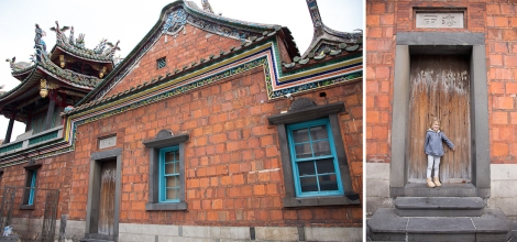 I LOVED this brick building, Lungshan Temple