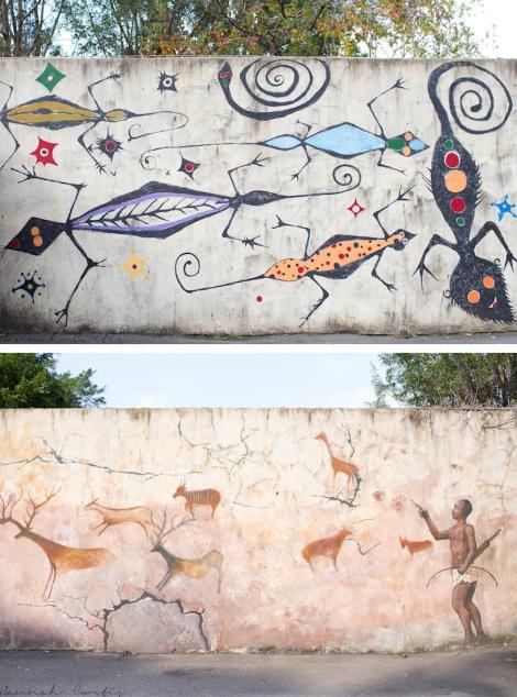 murals at Taipei Zoo