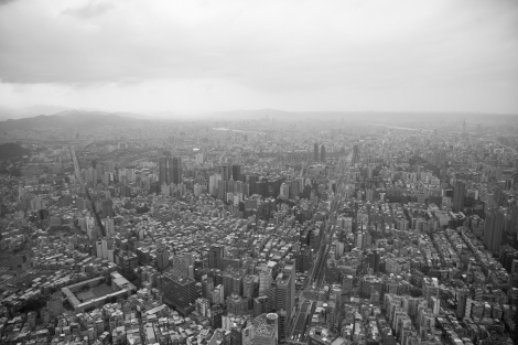 the view from the 89th floor of Taipei 101