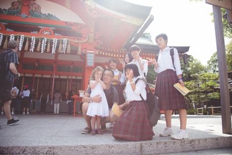 meeting locals in Kyoto, Japan