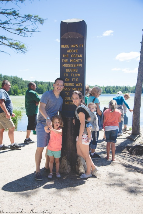 at the Mississippi headwaters, Minnesota, USA