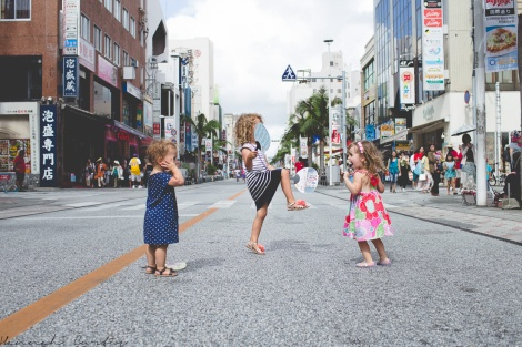 dancing in the street, Okinawa, Japan