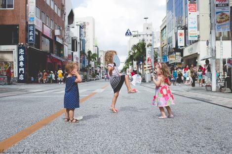 dancing in the street, Okinawa, Japan