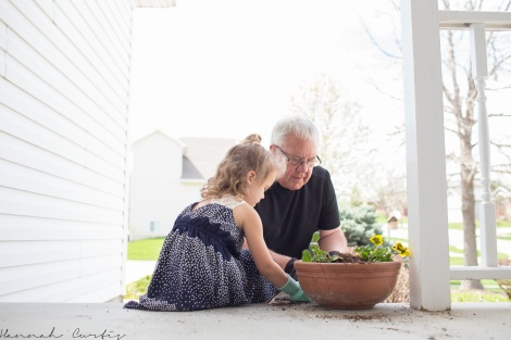 Day 31 | planting flower pots with Grandpa