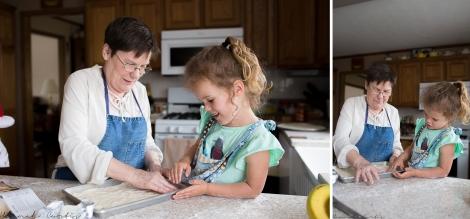 Eden loved being in the kitchen