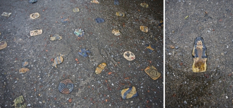 beautiful tiles in the pavement