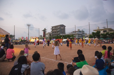 day 141 | Eden dancing at the Youth Eisa Festival in Chatan