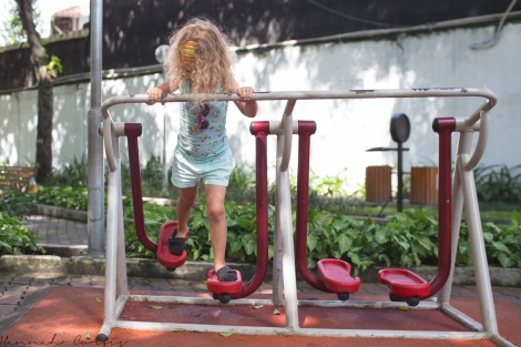 day 160 | getting her exercise in at Tao Dan Park, Ho Chi Minh City, Vietnam