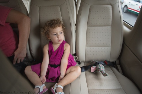 Clio & Nam Nam buckled in for the drive from HCMC airport to hotel