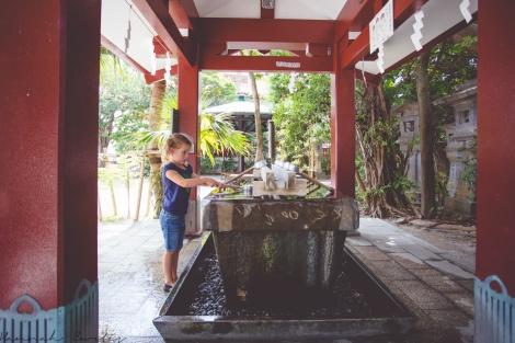 day 212 | cleansing herself before entering Naminoue-gu Shrine