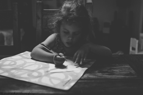 day 209 | writing a letter to her cousin (Lu...you'll probably get this after your birthday because I keep forgetting to post it!)