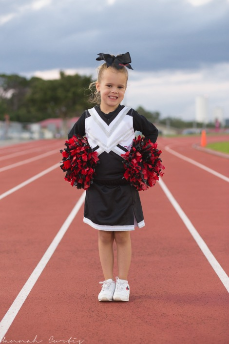 day 251 | our little cheerleader...go Bulldogs!