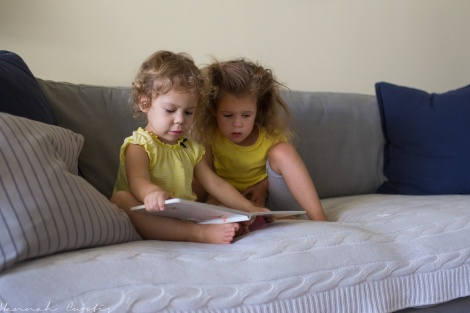 day 229 | reading to her sister to cheer her up
