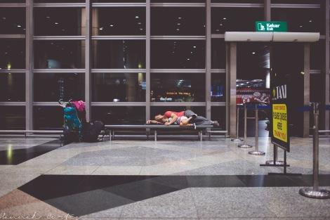 day 32 | sleeping in Kuala Lumpur airport