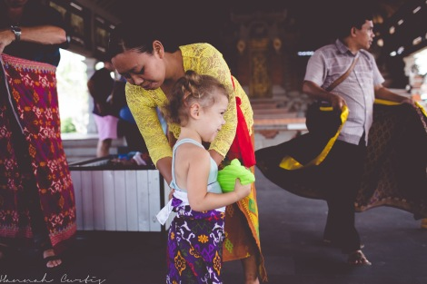 the girls loved that they had kid sized sarongs at Butuan Temple