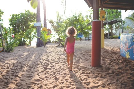 pj's and swimsuits was Clio's attire the entire time on Tioman!